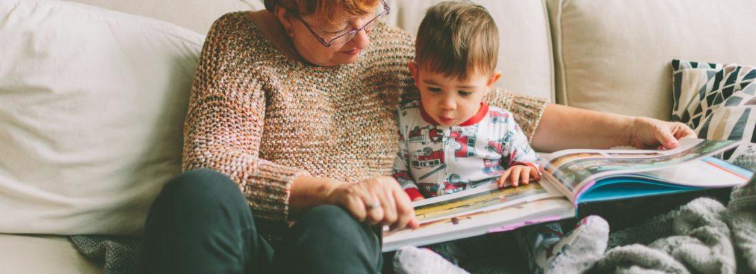babcia z wnukiem